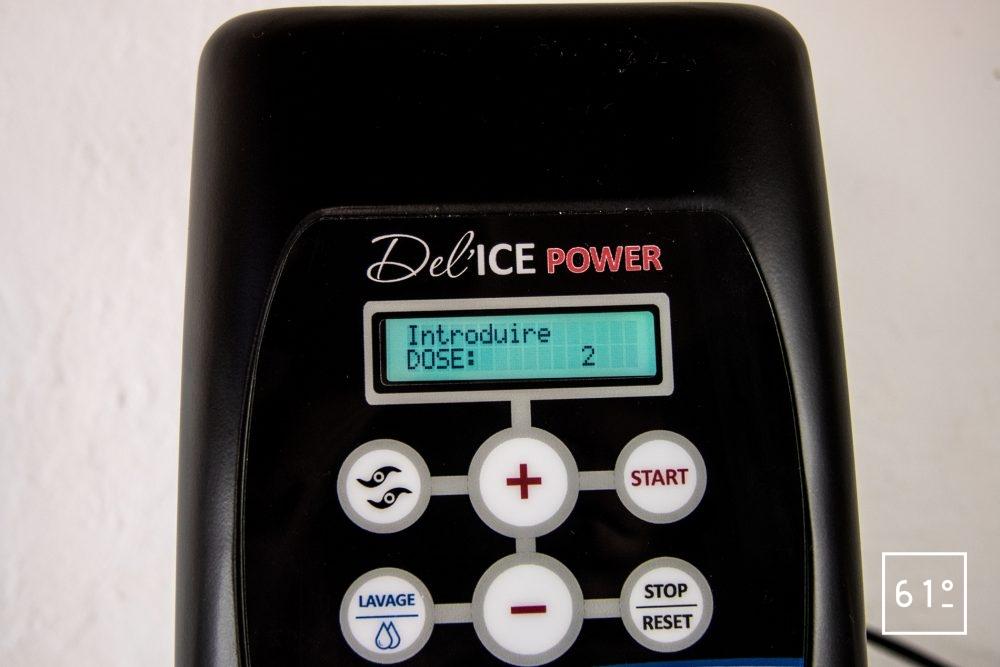 Delcoupe DELICE POWER - sélectionner le nombres de doses