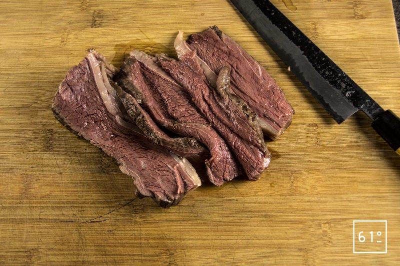 Tartines de Picahna de Black Angus Challenge Lascours avec King of the grill - Alexandre Hurson - Maison Boucherie Lascours - Découper la picahna