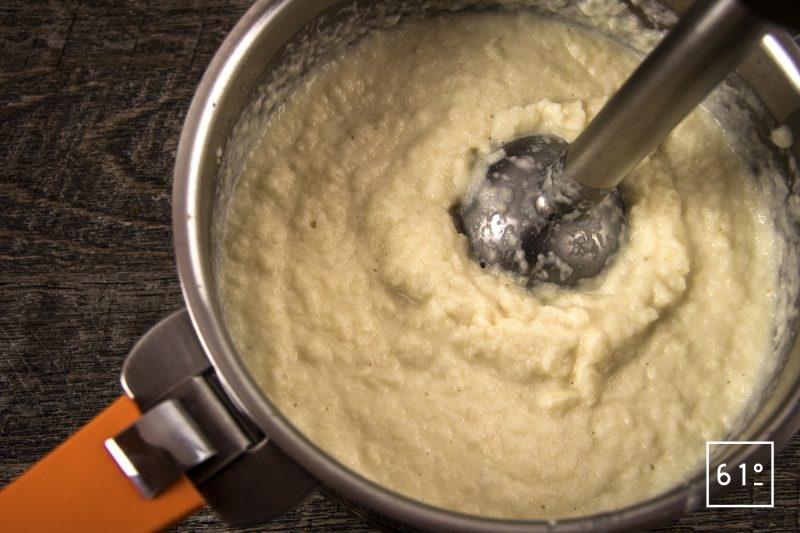 Os à moelle et mousseline de céleri rave - mixer la mousseline de céleri