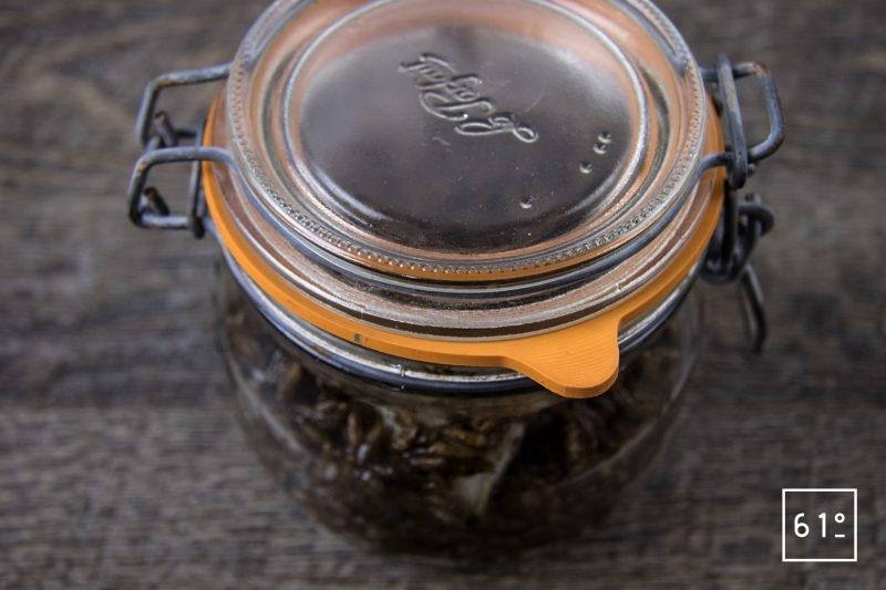 Sikhye de turbot - fermenter entre 12 °C et 17 °C pendant 25 jour