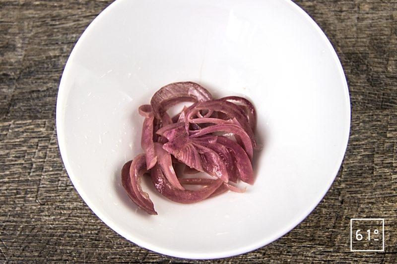 Oignons rouges lactofermentés