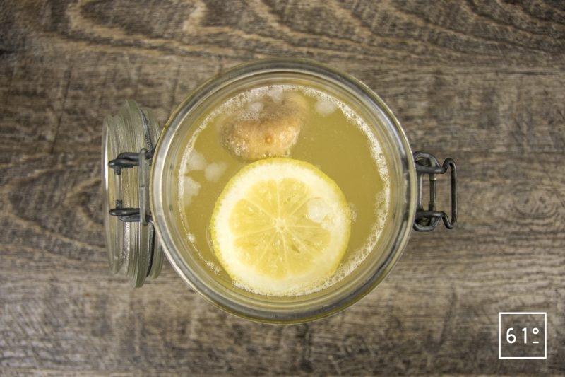 Kéfir de fruit - citron figue - fin de la fermentation