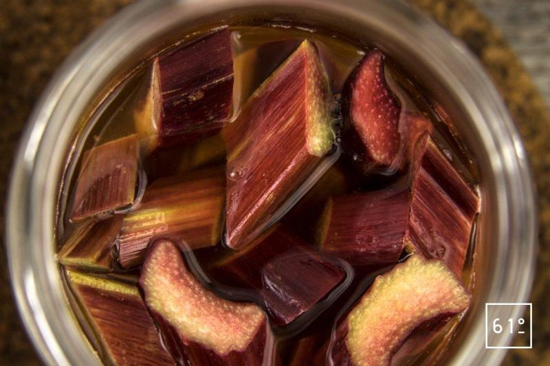 Pickles de rhubarbe - infuser sous vide