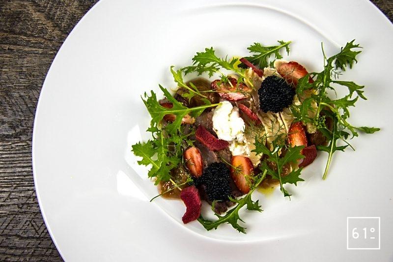 Truite fario et rhubarbe