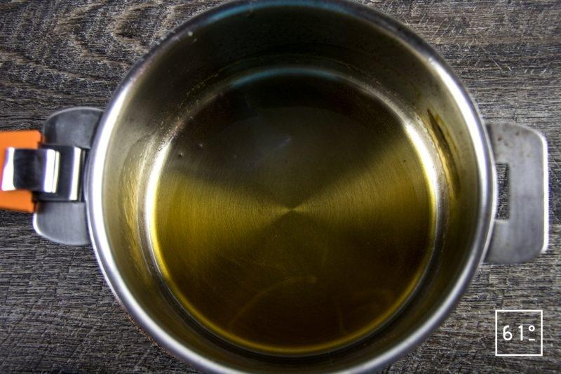 Carpaccio fumé de cerf - faire réduire la sauce