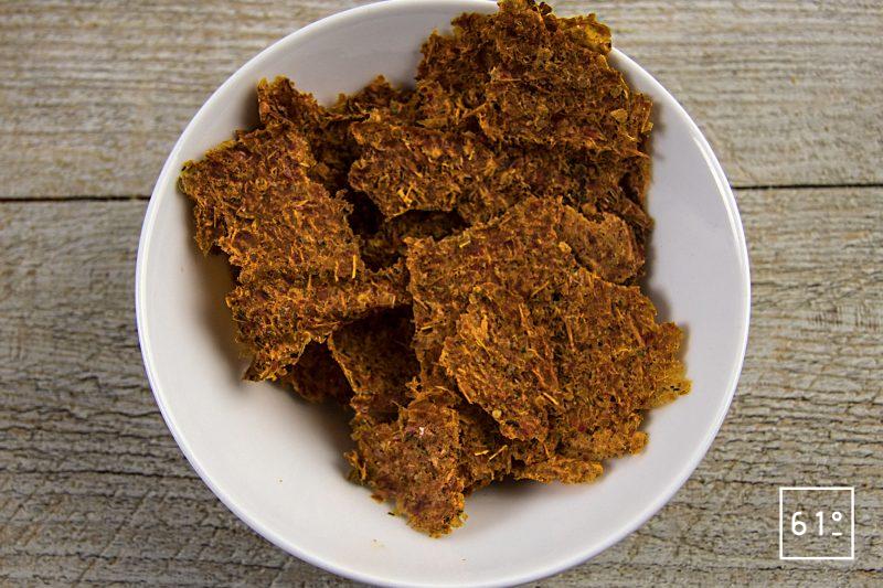 Crackers de pulpe de piperade