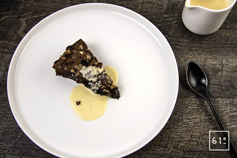 Crème anglaise sous vide à la vanille bleue