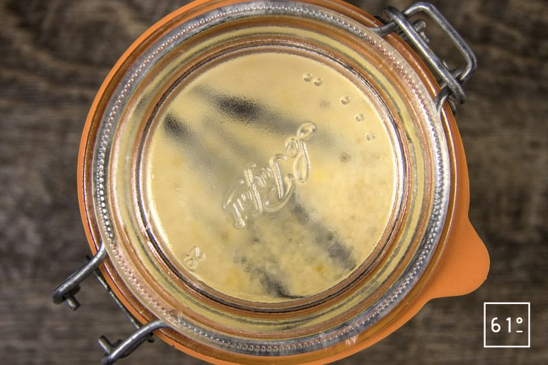 Crème anglaise sous vide à la vanille bleue - cuire sous vide