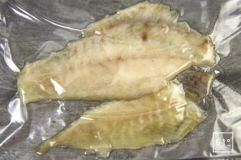 Fausse huître au turbot - mettre sous vide