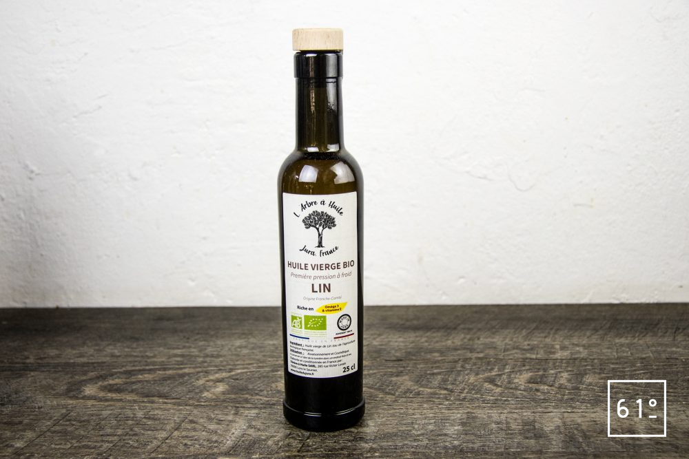 Les huiles de l'arbre à huile- huile de lin