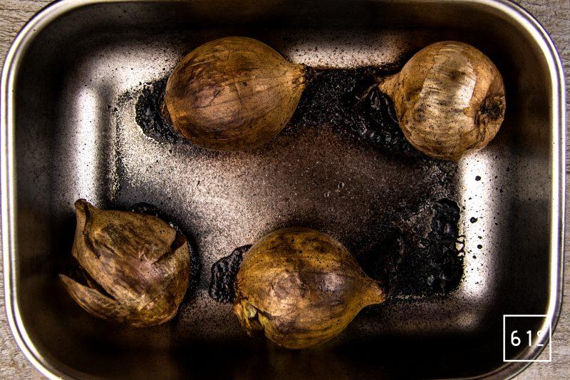 Huile d'oignons et citron - cuire au four les oignons