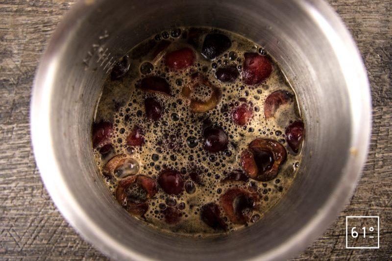 Sorbet à la cerise - rassembler les ingrédients du sorbet