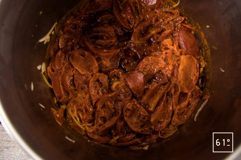 Soupe de tomate caramélisée - cuire sous pression