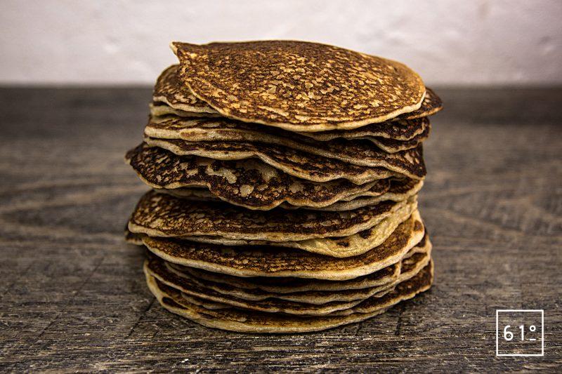 Pancakes au lait de chèvre et levain