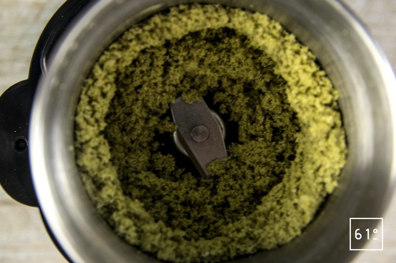 Mignardise fausse tête de chanvre chocolat - mixer