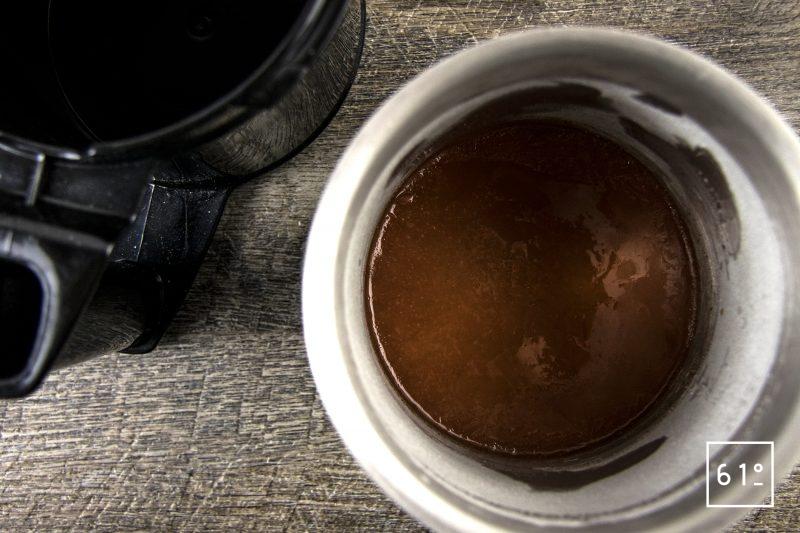 Gravlax de bar et glace de carotte - congeler le jus de carotte