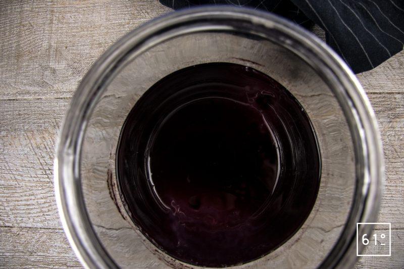 Kombucha de sirop de sureau - laisser fermenter