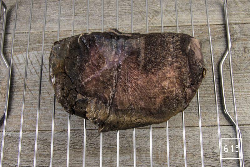 Langue de bœuf séchée - laisser sécher