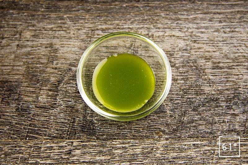 huile verte au persil et à la roquette