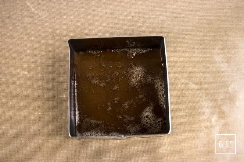 Poularde de Bresse au vin jaune et aux morilles - couler le gel