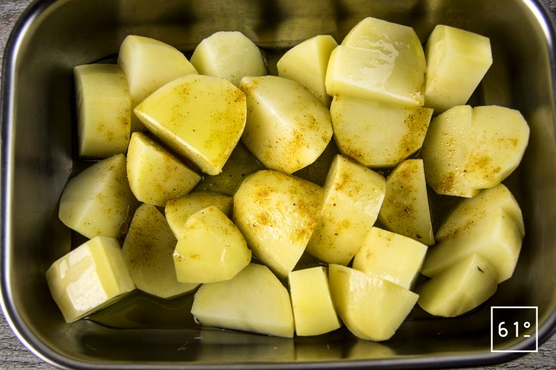 Poularde de Bresse au vin jaune et aux morilles - préparer les pommes de terre