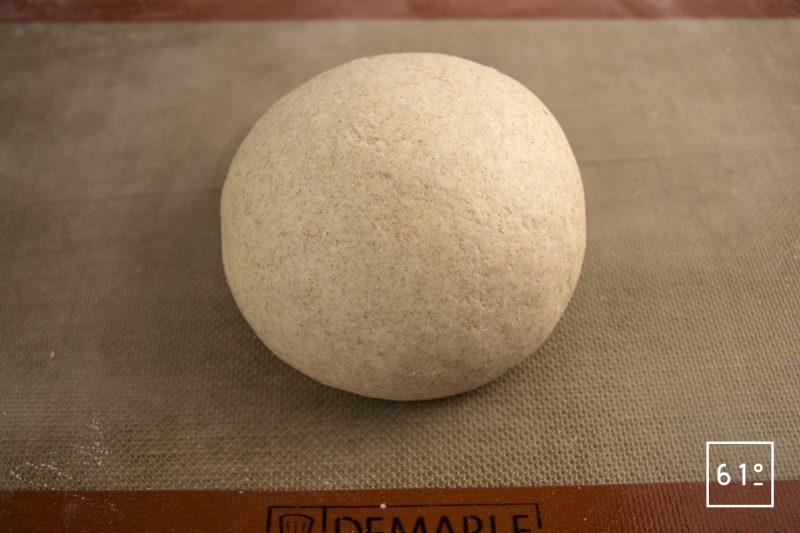 Muffin anglais au levain - pétrir