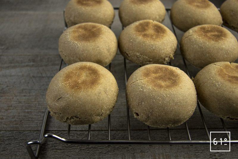 Muffin anglais au levain - ressuage