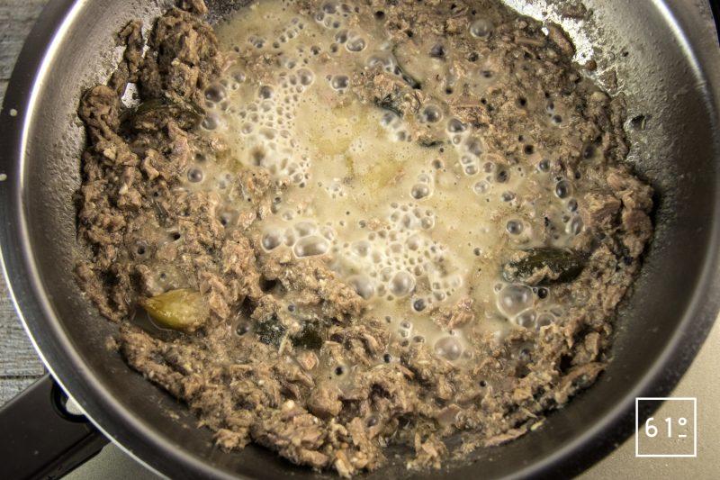 Vitello tonnato - réduire la sauce