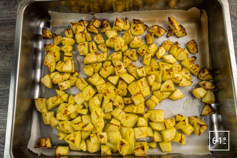 Batata harra - cuire les pommes de terre