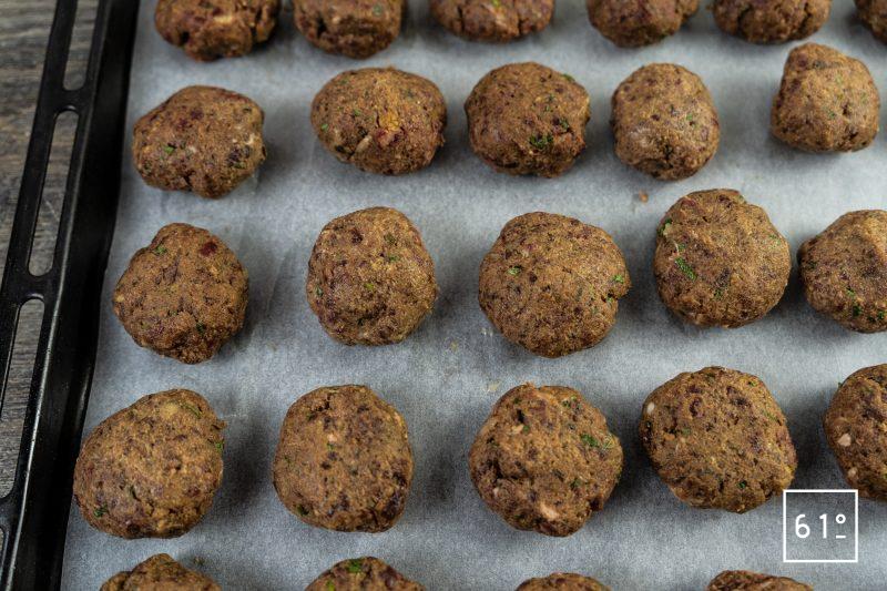 Kéfta - préparer les boulettes